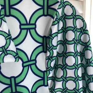 Gretchen Scott Designs Dresses - PREPPY NAVY & GREEN DRESS